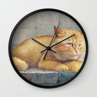 ginger Wall Clocks featuring Ginger by irshi