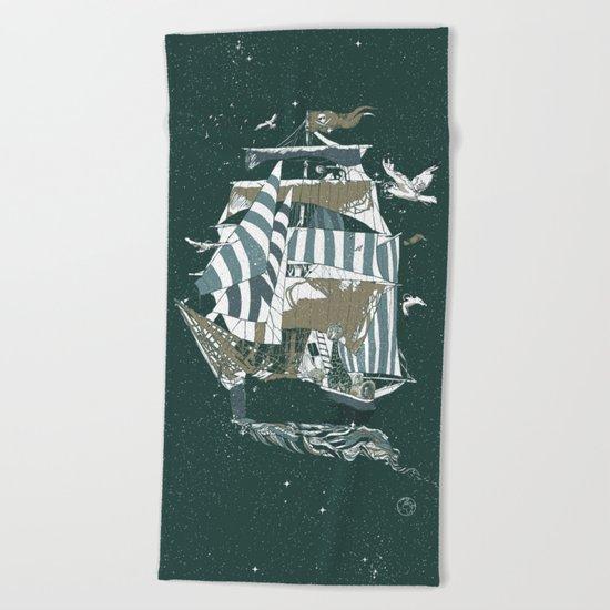 Sail to The Moon Beach Towel