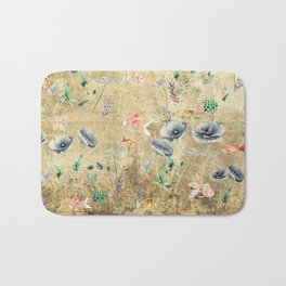Fishes & Garden #Gold-plated Bath Mat