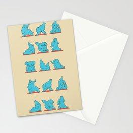 Elephant Yoga Stationery Cards