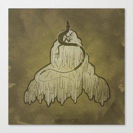 Skink + Lions Mane Canvas Print