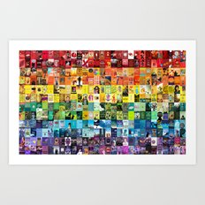 Literary LGBT Pride Month Flag Art Print