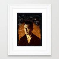 kerouac Framed Art Prints featuring Kerouac by Pete Lloyd