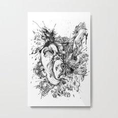 panic Metal Print