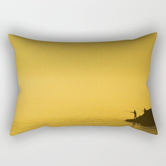 Paint Pêcheur sun yellow Rectangular Pillow