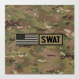 SWAT: Woodland Camouflage Canvas Print