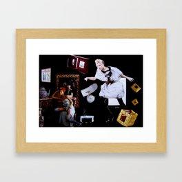 Black room Framed Art Print