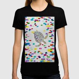 Colorful Swimming Sea Turtle  T-shirt
