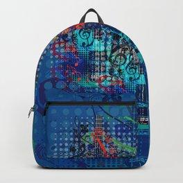 Modern guitar grunge Backpack