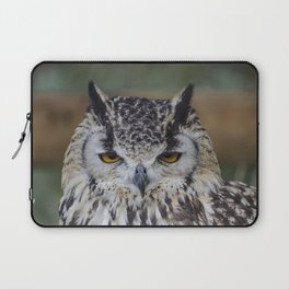 Angry Bengalensis Eagle Owl portrait. Laptop Sleeve