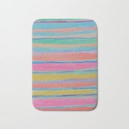 Rainbow Row Abstract Bath Mat