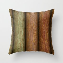Realistic wood texture Throw Pillow