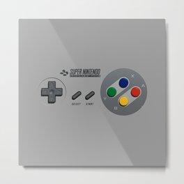Classic Nintendo Controller Metal Print