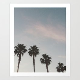 Vegas Palm Trees Art Print