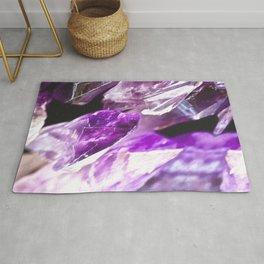 Purple Amethyst Crystals Rug