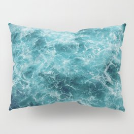 Blue Ocean Waves Pillow Sham