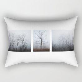 Fog Triptych Rectangular Pillow