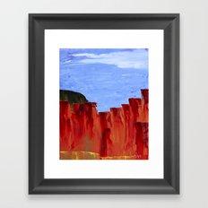 High Desert Canyons Framed Art Print