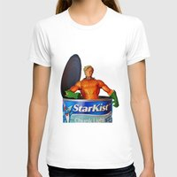 aquaman T-shirts featuring The Wrong Place At The Wrong Time by Beastie Toyz