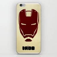 ironman iPhone & iPod Skins featuring IRONMAN by agustain