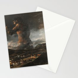 Francisco Goya The Colossus The Giant El Coloso Stationery Cards