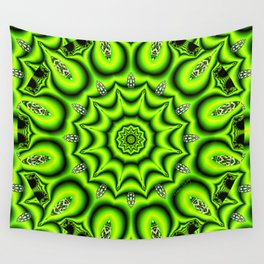 Spring Garden Mandala, Abstract Star Burst Delightful Spirals Wall Tapestry