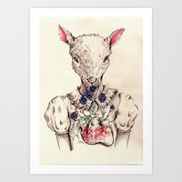 silence of the lambs Art Prints featuring Silence of the Lambs by Marie Toh