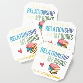 Funny Book Lovers Pun Bibliophile Joke Avid Readers Gift Coaster