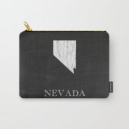 Nevada State Map Chalk Drawing Carry-All Pouch