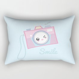 Camera Kawaii Rectangular Pillow