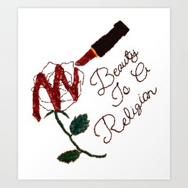 BeautyIsAReligion `Rose Lippy` Art Print