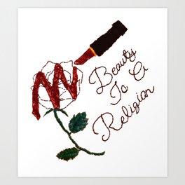 BeautyIsAReligion `Rose Lippy` Art Print