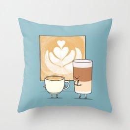Latte art Throw Pillow