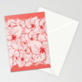 coral flower Stationery Cards