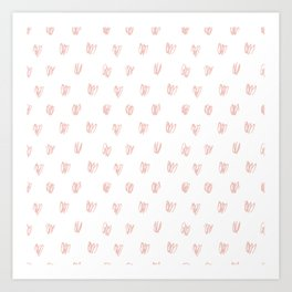 Be My Valentine - Heart Pattern Art Print