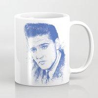 elvis presley Mugs featuring Elvis Presley by Chadlonius