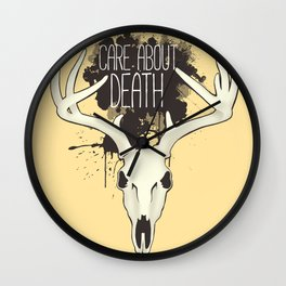 Care About Death Wall Clock