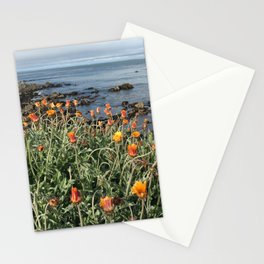 Orange blooms along the Pacific Stationery Cards