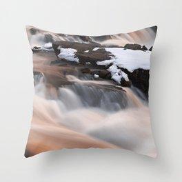 Ruby Winter Falls Throw Pillow