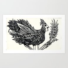 Funky Chicken Art Print