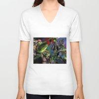 teenage mutant ninja turtles V-neck T-shirts featuring Teenage Mutant Ninja Turtles by artbywilliam