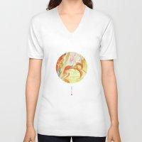 oriental V-neck T-shirts featuring Oriental by Tao Hua Wu Oriental Art