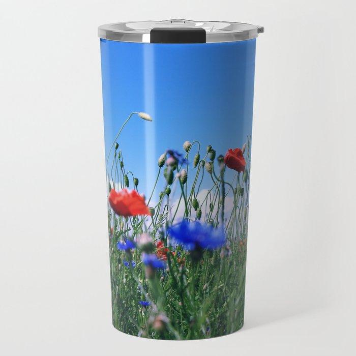 poppy flower no12 Travel Mug