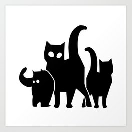 Lupe Cats Art Print