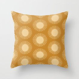 Golden Sun Pattern II Throw Pillow