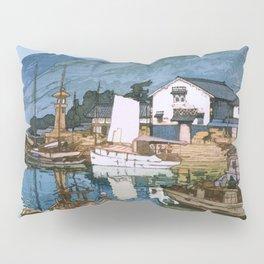 The Inland Sea Series, Second Series - Tomonoura Harbor - Digital Remastered Edition Pillow Sham
