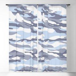 Pastel Blue Dusk Surprise Camo Blackout Curtain