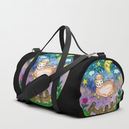 Watercolor Sheep Duffle Bag