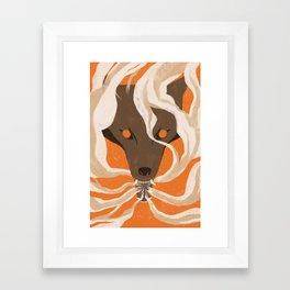 Teeth & Smoke Framed Art Print
