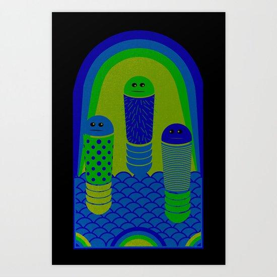 Burp Basket Art Print